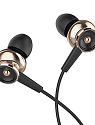 uiisii GT550 universels 3.5mm casque de métal dans l'oreille des écouteurs super bass avec auriculares microphone pour ios android