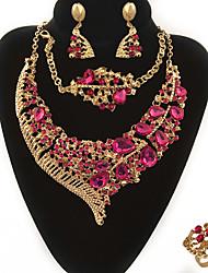 Bijoux 1 Collier 1 Paire de Boucles d'Oreille 1 Bracelet 1 Bague Bague Boucles d'oreilles Collier / Bracelet CristalCirculaire Original