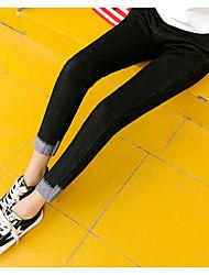 registe 2017 nova cintura coreana magro foi jeans stretch finas calças pés femininos