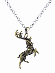 Men's Women's Pendant Necklaces Jewelry Animal Shape Alloy Unique Design Logo Style Dangling Style Jewelry For