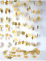 raylinedo® 1 шт 4 метра золотая бумага гирлянда для украшения свадьбы звезд летию со дня рождения рождества партии девушки номеров форма