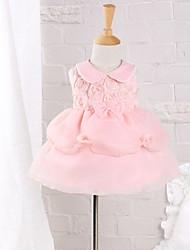 Baby Kleid-Lässig/Alltäglich einfarbig Baumwolle Nylon Sommer Rosa
