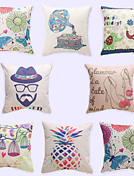 1 pcs Simple Fashion Cartoon Car Brocade Linen Pillow CaseNovelty Modern/Contemporary Casual