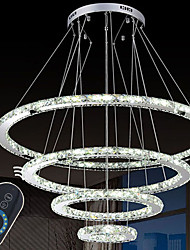 LED Ring Crystal Chandeliers Pendant Light Hanging Lamp Fixtures with  CE FCC ROHS