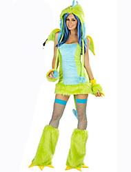 Costumes de Cosplay Animal Fête / Célébration Déguisement d'Halloween Vert Couleur Pleine Carnaval Féminin Coton