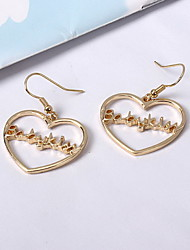 Drop Earrings Earrings Set Jewelry Love Silver Plated Gold Plated Alloy Heart Jewelry For Daily Casual