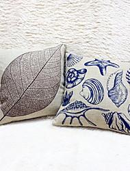 1 pcs Cotton/Linen Pillow Case,Still Life Graphic Prints Accent/Decorative Outdoor Modern/Contemporary Casual Retro