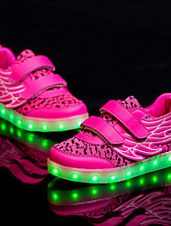 Sneakers Spring Summer Fall Light Up Shoes Tulle Outdoor Athletic Casual LED Hook & Loop