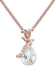 Pendant Necklaces Crystal Crystal Flower Basic Dangling Style Silver Jewelry Daily Casual 1pc