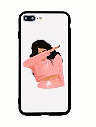Для С узором Кейс для Задняя крышка Кейс для Соблазнительная девушка Твердый Акрил для AppleiPhone 7 Plus iPhone 7 iPhone 6s Plus iPhone