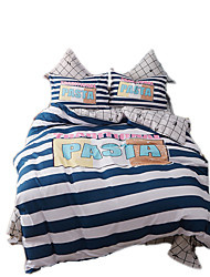 Mingjie Reactive Print Stripe Bedding Sets 4 Pcs for Queen Size Contain 1 Duvet Cover 1 Bedsheet 2 Pillowcases from China