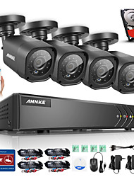 ANNKE 8CH Onvif Supported AHD DVR 4PCS 720P 1.0MP Night Vision Camera CCTV System Surveillance Kits Email Alert Built-in 1TB