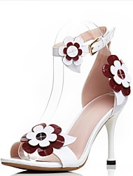 Sandals Spring Summer Club Shoes Cowhide Party & Evening Stiletto Heel
