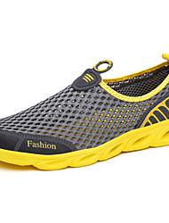 Tacón Plano-Confort Suelas con luz-Zapatos de taco bajo y Slip-Ons-Exterior Informal Deporte-Tul-Azul Real Gris Oscuro Azul Oscuro