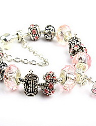 Chain Bracelet Crystal Crystal Natural Jewelry Gray Purple Brown Red Pink Jewelry 1pc