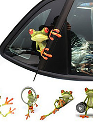 New Arrival 3D Frogs Funny Car Stickers Car Styling Vinyl Decal Sticker Decoration High Temperature & Water Proof10PCS)