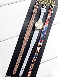 Women's Kids' Unisex Fashion Watch Wrist watch Bracelet Watch Quartz Colorful Leather Band Vintage Bohemian Charm Bangle Cool CasualBlack