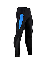 Mysenlan Cycling Tights Men's Bike Breathable Spandex Classic Cycling/Bike Summer White Blue