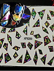 1pcs Geometric Image Nail Art Laser Glitter Sticker DIY Nail Art Water Transfer Decals Nail Art Design XF6250