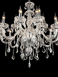 15 Lights Large Crystal Candle Chandelier