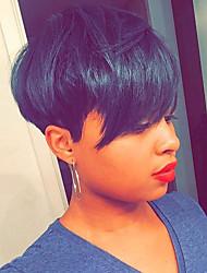 vente chaude noir cheveux courts mûre perruque de cheveux humains pour les femmes