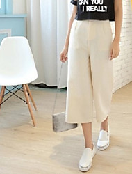 Wide leg pants female summer 2017 spring new Korean loose waist wide leg pants linen wide leg pants wide leg pantyhose