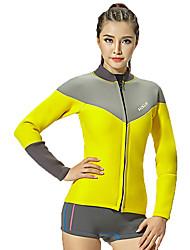 HISEA® Dámské Neopren bunda Voděodolný Zahřívací Nositelný Odolné vůči šokům Hladký Diving Suit Dlouhé rukávy Potápěčské obleky-Potápění