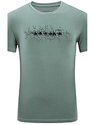 Tee-shirt Homme,Géométrique Décontracté / Quotidien simple Eté Manches Courtes Col Arrondi Spandex Moyen