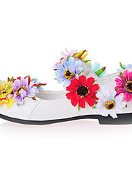 Girls' Flats Spring Summer Fall Comfort Novelty Flower Girl Shoes Patent Leather Wedding Party & Evening Dress Flat Heel Applique Walking
