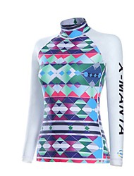 Sports Women's Wetsuit Top Breathable Quick Dry Anatomic Design Neoprene Diving Suit Long Sleeve Tops-Diving Spring SummerClassic Floral