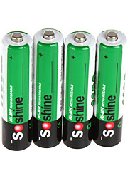 soshine 4pcs / pack Ni-mh aaa batterie batteries 1100mAh boîtier de batterie portable batterie rechargeable