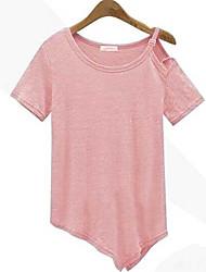 2016 aliexpress t-shirt irregular do rebitamento oblíquo quente