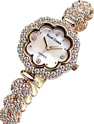Women's Fashion Watch Quartz Alloy Band Silver Gold Gold Silver