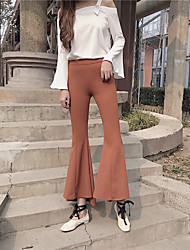 Real shot side zipper high waist slim bell bottom pants Nett