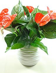 1 Филиал Пластик Полиуретан Pастений Букеты на стол Искусственные Цветы 20*32