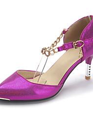 Белый Пурпурный Синий-Для женщин-Свадьба Для праздника Для вечеринки / ужина-Лакированная кожа Материал на заказ клиента-На шпильке-Туфли