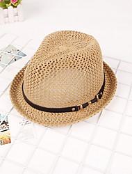 Lady Sunshade Handmader Leather Straw Sun Hat Outdoor Beach Uv Lady Wide Large Brim Floppy Sunscreen Foldable Cap