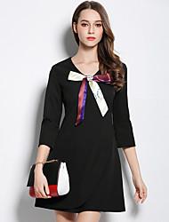 arc jupe robe de base noire Dongkuan 2016 automne et hiver les femmes&# 39; la marée de la mode des stations européennes
