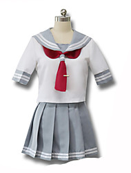 Cosplay Costumes Student/School Uniform Festival/Holiday Halloween Costumes Solid Carnival Female Uniform Cloth Polyester Terylene
