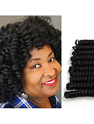 Curlkalon crochet hair twist black/burgundy saniya curl Synthetic Curlkalon braiding hair bouncy twist haar extension 20roots/pack 5packs make head