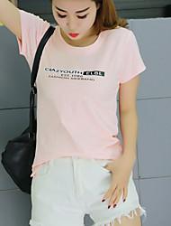 Baumwolle Bambus Baumwolle Kurzarm-T-Shirt mit Rundhalsausschnitt dünner Kurzhülse T-Shirt weibliche wildes Hemd grundiert mitfühlend