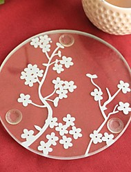 Cherry Blossoms Glass Coaster (set of 1) 9*9cm Beter Gifts® Wedding Favors