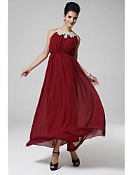 bustier collier métallique embelli mis sur une grande promotion jupe longueur robe taille