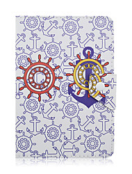 SZKINSTON Anchor Case Cover Shockproof with Stand Sleep Magnetic Pattern Full Body PU Leather For All 7.0 - 8.0 Inch Mobile Phone or Tablet