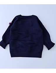 Casual/Daily Solid Blouse,Wool Winter Long Sleeve Long