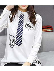Sign in spring 2017 Korean version of College life and white chiffon shirt blouse small video provider