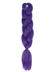 1 Pack Purple Jumbo Braids Hair Extensions Kanekalon Hair Braids Crochet 24inch Fiber 100g