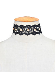 Women's Choker Necklaces Statement Necklaces Jewelry Lace Single Strand Fashion Personalized Euramerican Statement Jewelry Black Jewelry