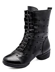 Sapatos de Dança(Preto Vermelho Branco) -Feminino-Não Personalizável-Botas de Dança