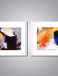 Framed Abstract Painting Canvas Print Contemporary Abstract Artworks with White Frame for Wall Decor Ready to Hang